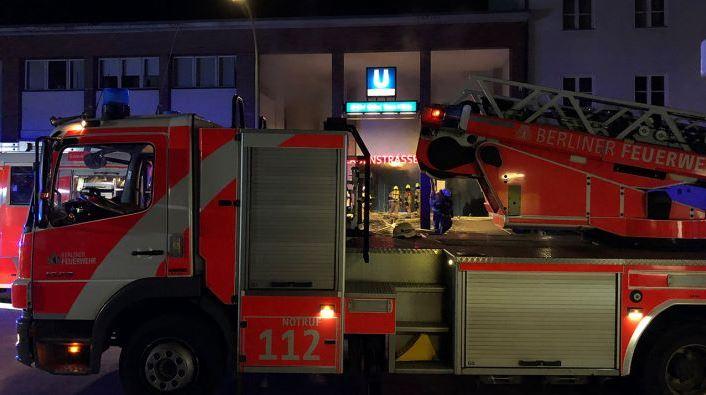 Пожар в U3 Onkel Toms Hütte Берлин