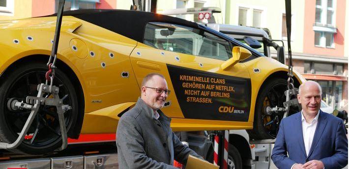 Прокуратура расследует  Lamborghini от CDU Берлина.